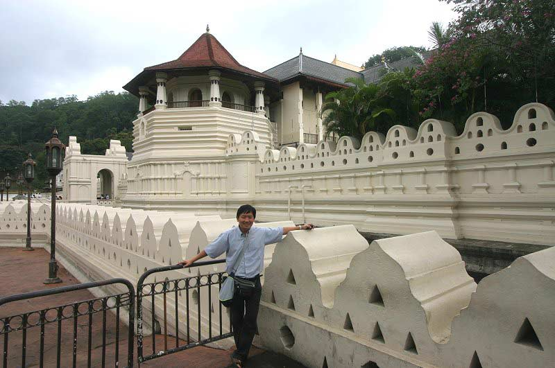 Temple of Sacred Tooth Relic in Kandy, Sri Lanka
